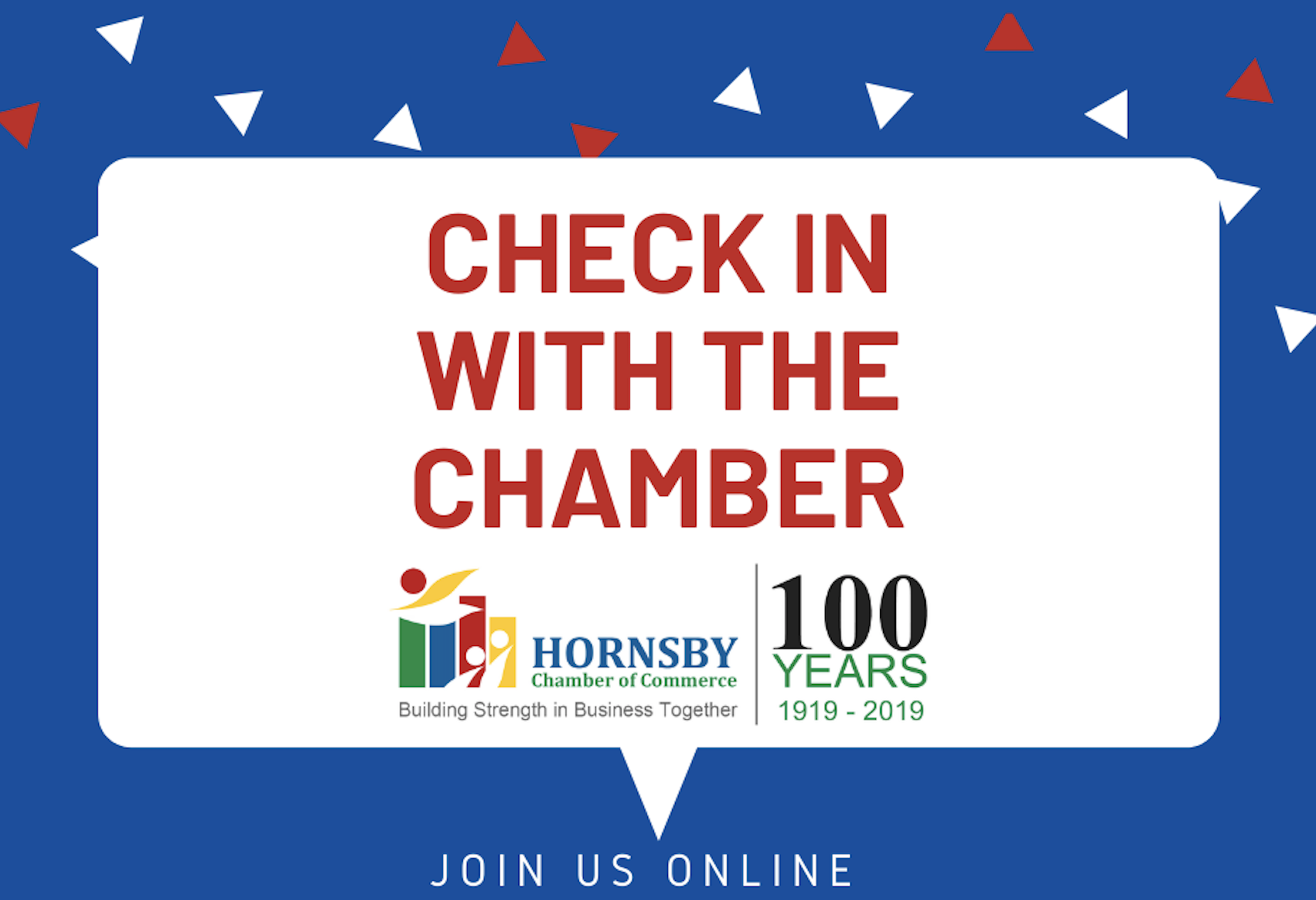 Hornsby Chamber of Commerce ~ Check In with the Chamber... ONLINE!