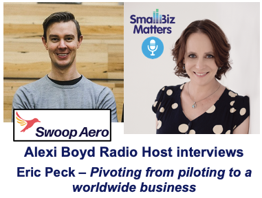 Pivoting from piloting around the world to a worldwide small business With special guest Eric Peck, CEO | Swoop Aero